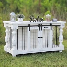 Wood dog crate custom order Wood Dog Crate, Dog Crate Furniture, Solid Wood Furniture, Custom Furniture, Furniture Design, Wood Table, A Table, Console Table, Rustic Kitchen Tables