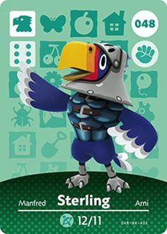 Nintendo Animal Crossing Happy Home Design Sterling Amiibo Card 048 USA Version #Nintendo
