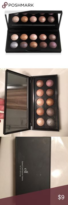 e.l.f Baked Eyeshadow Pallet Used one time ELF Makeup Eyeshadow