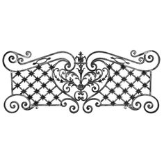 "Forged Steel Decorative Center Piece with Hemisphere Rosettes. 78-3/4"" W, 31-1/2"" H, 126.54 lbs"