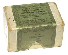 in case you needed that extra boost, radium comes in suppositories, to!