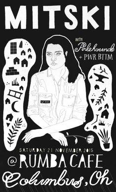 "tyropaw: "" Mitski poster for illustration practice. this is such a great poster thank you! Wood Shadow Box, Shadow Box Frames, Keisha Castle Hughes, Jeremy Bulloch, Kenny Baker, Frank Oz, Peter Mayhew, Nathalie Portman, Earl Jones"