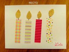 Cartons d'invitation pour l'anniversaire de Lola (4 ans)