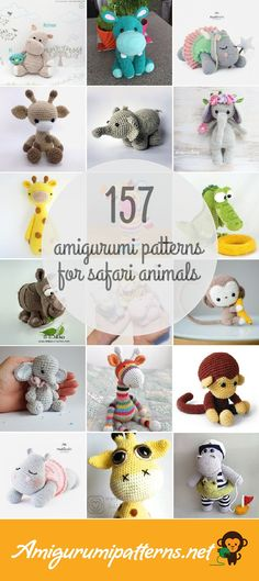 Amigurumi Patterns For Safari Animals