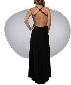 love this low cut back dress