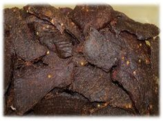 """Hmm maybe. """"Smoked deer jerky isn't typically something you can just buy at your average gas station. Use this recipe to impress your friends and keep them coming back for more! Deer Jerky Recipe, Venison Jerky Recipe, Jerky Recipes, Venison Recipes, Sausage Recipes, Jerky Marinade, Deer Recipes, Wild Game Recipes, Fun Recipes"""