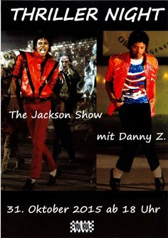 MICHAEL JACKSON - THRILLER NIGHT - THE JACKSON SHOW MIT DANNY Z. - 2015 - FLYER