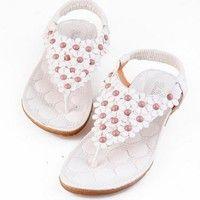 Wish    2017 Summer Sandals Woman Shoes Bohemia Thong Flat Flower Women Sandals Casual Flats sandalias mujer  DIG