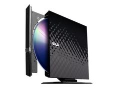 Larger Image ASUS SDRW 08D2S-U External DVD Drive - Black - Disk drive - DVD±RW (±R DL) / DVD-RAM - 8x/8x/5x - Hi-Speed USB - external - black $34.99