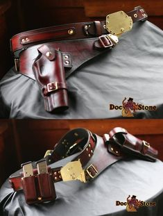 Steampunk drop thigh solo holster by DocStoneStudios on Etsy Gun Holster, Leather Holster, Leather Kits, Leather Craft, Western Holsters, Custom Holsters, Steampunk Wedding, Cool Gear, Leather Accessories