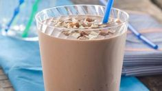 Banana Nutella Smoothies with Almonds