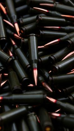 Black red tip hollow bullets