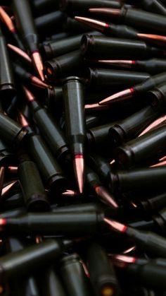 Black red tip hollow bullets