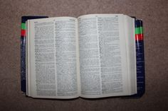 Much like the spelling book of mine that I have so far examined, the dictionary uses a two column format. This is one of the main books associated with language, so it could be relevant to try and adapt some of the existing design features. Overall size is slightly larger than A5.