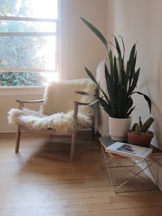 make the old chair super comfy for winter