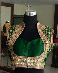 We don't sell any products. If you like this post pl save it and tag your friends . DM for credits or removal of this post. Saree Blouse Neck Designs, Choli Designs, Fancy Blouse Designs, Designs For Dresses, Bridal Blouse Designs, Stylish Blouse Design, Designer Blouse Patterns, Kurti Designs Party Wear, Mode Hijab