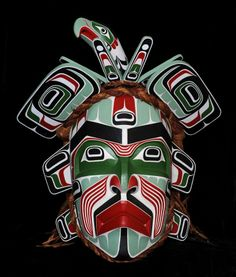 Massive Beau Dick Hamaquinella Mask with Articulated Crown (Spirit Protector of Mask Owner) Used in Beau Dick's Potlatch Finale September 2012 Alert Bay, B.C. 52 1/2 H. 47 W. Good Condition Lot #110