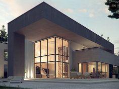 Общая площадь 312,2 м² Проект дома Zx127 это проект современного дома в стиле хай-тек .