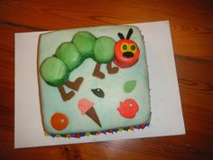 Who doesn't love the very hungry caterpillar...the perfect bday cake for your little one  by sweetbits-bakery.com