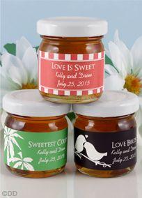 Personalized Wedding Honey Favors
