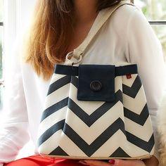 Chevron Ava Shoulder Bag