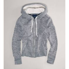 AE Sweater Hoodie ($20) ❤ liked on Polyvore featuring tops, hoodies, heather grey, sweaters, zip front hoodies, heather grey hoodie, zip front hoodie, sweatshirts hoodies and zip front top