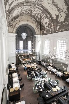 Restaurant The Jane in Antwerp, Belgium.