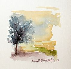 Smail watercolor landscape painting, on Behance - Smail watercolor landscape pa. - Smail watercolor landscape painting, on Behance – Smail watercolor landscape painting, on Behanc - Watercolor Painting Techniques, Watercolor Landscape Paintings, Watercolor Trees, Easy Watercolor, Watercolor Sketch, Abstract Watercolor, Watercolour Painting, Painting & Drawing, Painting Tutorials