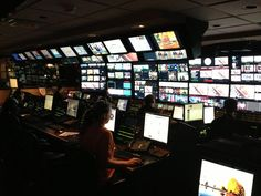 The MSNBC control room.