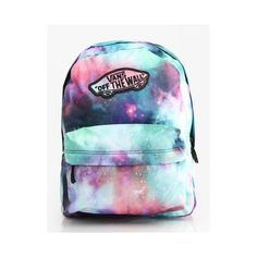 Vans Realm Backpack Galaxy Nubula True White ( 9.24) ❤ liked on Polyvore 403b11c34e7