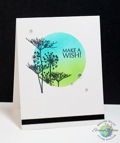Mama Mo Stamps: 15 Minute Challenge - using masking, inking and stamping. Lovely one layer card.