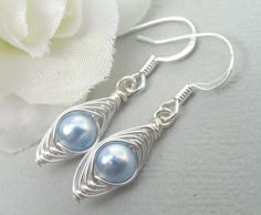 Petite Peas In A Pod Silver Earrings  Love My by Kikiburrabeads, $14.00