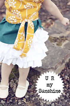 u-r-my-sunshine pattern + tute