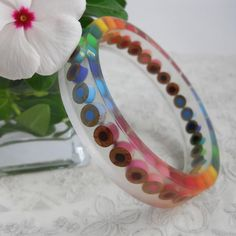 Resin Bangle  Resin Bracelet  Colored Pencil  Bangle by miceart, $18.00