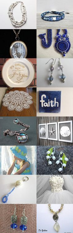 Blue Skies and Drifting Clouds by Grandma G. on Etsy--Pinned+with+TreasuryPin.com