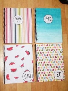 Labelled DIY Notebooks -  DIY Back-To-School Supplies - Photos