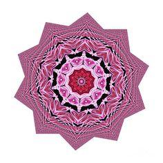 Loving Rose Mandala By Kaye Menner by Kaye Menner Digital Art Photography, Image Photography, Wall Art Prints, Canvas Prints, Kaleidoscopes, Love Rose, My Images, Fine Art America, Buildings