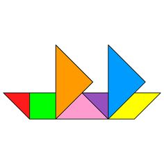 Tangram Sailboat - Tangram solution #10 - Providing teachers and pupils with tangram puzzle activities