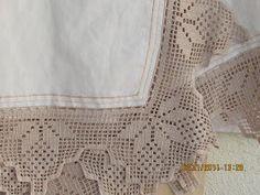 Os meus Arraiolos: toalha renda