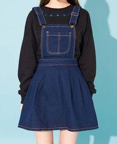 [MIXXMIX] DENIM DRESS OVERALLS