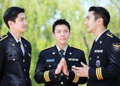 Max, Choi Si-won, Lee Dong-hae in Seoul Metropolitan Police uniforms