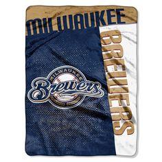 MILWAUKEE BREWERS Blanket - 60x80 Royal Plush Raschel Throw NEW