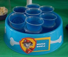 Genial idea para comida de una fiesta temática de la Patrulla Canina.