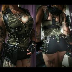 Heavy metal artillery hot shorts by Chaosville on Etsy