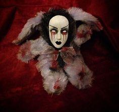 Bastet2329 OOAK Creepy Purple Smaller Gothic Bunny Rabbit