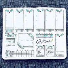 Jolly Holly time 🎄 It's definitely looking a lot like Christmas 🎅🏻 . Added a self care section since it's important to take time for yourself during this crazy busy time. can't wait to check off every box 😃 . Bullet Journal Weekly Layout, Organization Bullet Journal, Bullet Journal Notebook, Bullet Journal Ideas Pages, Bullet Journal Spread, My Journal, Bullet Journal Inspiration, Bujo, Bellet Journal