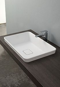Semi-recessed wash basin Yak-in