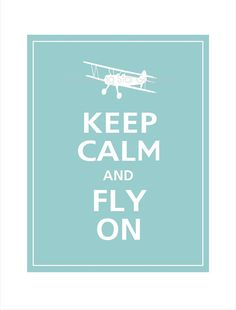 Keep Calm and FLY ON Airplane Poster 8x10 Reflecting by PosterPop, $10.95