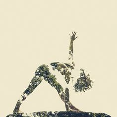 With The Help Of Yoga Instructors, I Create Surreal Photos That Blend Human Body With Plant Forms - body art Yoga Images, Yoga Pictures, Yoga Photos, Yoga Words, Double Exposure Photo, Chakra Art, Yoga Logo, Surreal Photos, Yoga Fashion