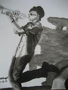 el trompetista - los dibujos de jose angel barbado - by jose angel barbado